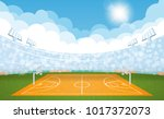 basketball arena field with day ... | Shutterstock .eps vector #1017372073