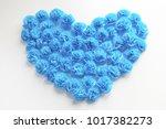 heart from roses  handmade...   Shutterstock . vector #1017382273