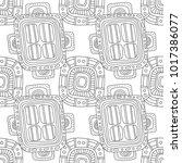 black and white illustration...   Shutterstock .eps vector #1017386077