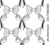 bows. black and white...   Shutterstock .eps vector #1017386083