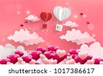 illustration of love and... | Shutterstock .eps vector #1017386617