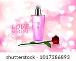 luxury cosmetic bottle package... | Shutterstock .eps vector #1017386893