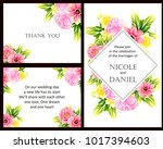 invitation with floral... | Shutterstock .eps vector #1017394603