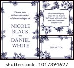 invitation with floral... | Shutterstock . vector #1017394627