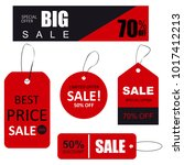 set of sale tags with text.... | Shutterstock . vector #1017412213