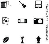 hobby icon set   Shutterstock .eps vector #1017412957