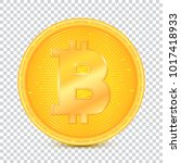 coin of virtual currency... | Shutterstock .eps vector #1017418933