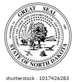 the seal of the state of north... | Shutterstock . vector #1017426283