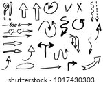 doodle hand drawn vector arrows | Shutterstock .eps vector #1017430303