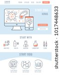 line illustration of virus.... | Shutterstock .eps vector #1017448633