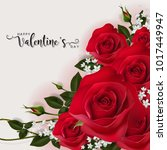 valentine's day greeting card... | Shutterstock .eps vector #1017449947