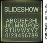 retro font with blur effect.... | Shutterstock .eps vector #1017460453