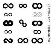 infinity sign. infinity flat... | Shutterstock . vector #1017461977