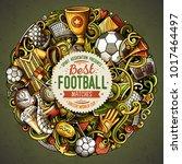 cartoon vector doodles football ... | Shutterstock .eps vector #1017464497