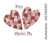 happy valentine's day. template ... | Shutterstock .eps vector #1017465337