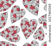 romantic seamless pattern with... | Shutterstock .eps vector #1017465343