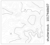 topographic map of relief and... | Shutterstock .eps vector #1017468607