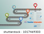 business road map timeline... | Shutterstock .eps vector #1017469303