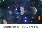 star field in deep space many... | Shutterstock . vector #1017476143
