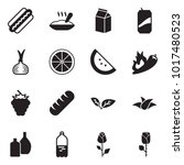 solid black vector icon set  ... | Shutterstock .eps vector #1017480523