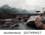 Small photo of View from Bhim nala waterfalls in North Sikkim.
