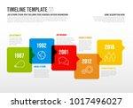 vector infographic horizontal... | Shutterstock .eps vector #1017496027