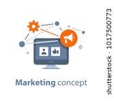 marketing strategy  social... | Shutterstock .eps vector #1017500773