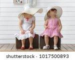 little girls play with...   Shutterstock . vector #1017500893