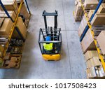 warehouse man worker with... | Shutterstock . vector #1017508423