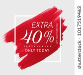 extra sale 40  off sign over... | Shutterstock .eps vector #1017519463