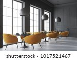 black cafe corner with a... | Shutterstock . vector #1017521467