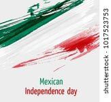 mexican independence day... | Shutterstock .eps vector #1017523753