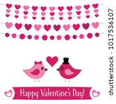 valentines day vector greeting... | Shutterstock .eps vector #1017536107
