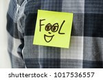 """sticky note with word """"fool"""" on ... 