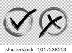 symbolic ok and x approval... | Shutterstock .eps vector #1017538513