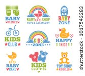 a set of logos with accessories ... | Shutterstock .eps vector #1017543283
