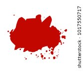 abstract isolated red vector... | Shutterstock .eps vector #1017550717