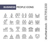 business people icons set... | Shutterstock .eps vector #1017551233
