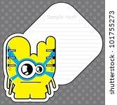 cartoon monster with message... | Shutterstock .eps vector #101755273