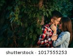 romantic portrait of the young... | Shutterstock . vector #1017555253