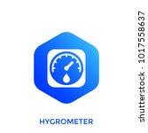 hygrometer  humidity control...   Shutterstock .eps vector #1017558637