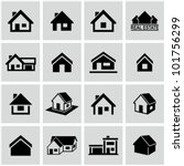 Houses icons set. Real estate. - stock vector