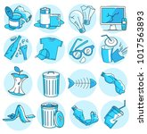 modern linear pictogram of... | Shutterstock .eps vector #1017563893
