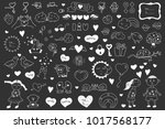 collection of valentine's cards ...   Shutterstock .eps vector #1017568177