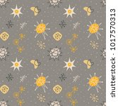 mid century modern seamless... | Shutterstock .eps vector #1017570313