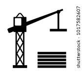 industrial lifting crane ... | Shutterstock .eps vector #1017582607