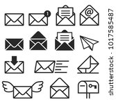 email icons. vector... | Shutterstock .eps vector #1017585487