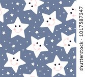 seamless colorful star pattern... | Shutterstock .eps vector #1017587347