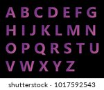 vector alphabet set geometric... | Shutterstock .eps vector #1017592543