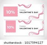 happy valentine's day | Shutterstock .eps vector #1017594127